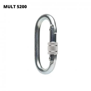 MULT 5200 - Mosquetão Oval em aço.