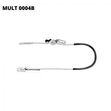 MULT 0004B - TALABARTE EM CORDA COM REGULADOR DE DISTÂNCIA EM INOX